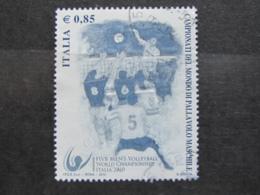 *ITALIA* USATO 2010 - MONDIALI PALLAVOLO MASCHILE - SASSONE 3193 - LUSSO/FIOR DI STAMPA - 6. 1946-.. Repubblica