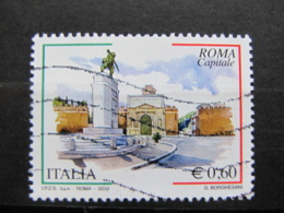 *ITALIA* USATO 2010 - ROMA CAPITALE 4^ EMISS - SASSONE 3192 - LUSSO/FIOR DI STAMPA - 6. 1946-.. Repubblica