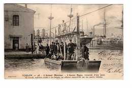 Marine Militaire Française 83 Toulon Arsenal Maritime Ancien Bagne Traversée D' Une Passe , Marin Bagnard - Guerre