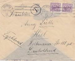 Dänemark: 1921: Aalborg Nach Kiel - Taxe - Denmark