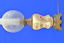 LAMPE PÉTROLE SARREGUEMINES - Enfant Richard - Lamps