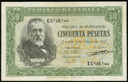 1940 Billete 50 Ptas EBC++ No.Serie: C - [ 3] 1936-1975 : Régence De Franco