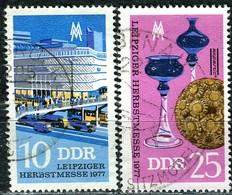 DDR - Mi 2250 / 2251 - OO Gestempelt (C) - 10-25Pf           Leipziger Herbstmesse 77 - DDR