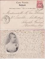1901 Schwäbisch Gmund In Wurttemberg Ganzsache Stempel Postkaart La Princess Josephine De Hohenzollern Royalty Princess - Wurtemberg