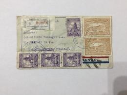 BUSTA RACCOMANDATA POSTA AEREA REPUBBLICA DEL PARAGUAY/BUSTO ARSIZIO 1937 - Paraguay