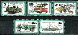 DDR - Mi 2254 / 2258 - OO Gestempelt (A) - Verkehrsmuseum Dresden - DDR