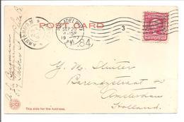 Flag Cancellation Philadelphia 3-20.9.1907 PC Independence Hall Inside Vieuw - Marcofilia