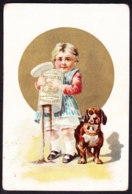 CHROMO Chocolat SUCHARD   +/- 1891    Serie 22    Enfant Avec Chien    Trade Card   Child With Dog - Suchard