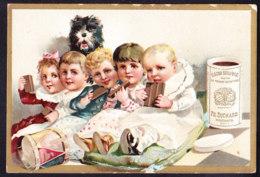CHROMO Chocolat SUCHARD   +/- 1891    Serie 22    Enfants Avec Chien    Trade Card   Children With Dog - Suchard