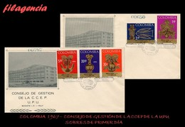 AMERICA. COLOMBIA SPD-FDC. 1967 COMITÉ CONSULTIVO DE ESTUDIOS POSTALES DE LA UPU. ARTE PRECOLOMBINO - Colombie