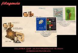 AMERICA. COLOMBIA SPD-FDC. 1968 XX ANIVERSARIO DE TELECOM - Colombie
