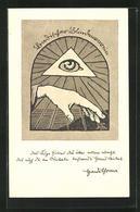 Künstler-AK Badischer Blindenverein, Das Auge Gottes... - Gesundheit