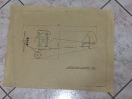 WW1 DISEGNO TECNICO REGIA AVIAZIONE AERONAUTICA AEREO CAPRONI AIRPLANE . - Disegno Tecnico
