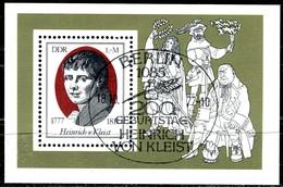 DDR - Mi Block 51 = 2267 - OO Gestempelt (D) - 1M      Heinrich Von Kleist - DDR