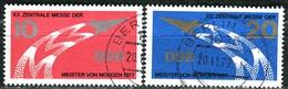 DDR - Michel 2268 / 2269 - OO Gestempelt (A) - 10-25Pf    Messe Der Meiser Von Morgen 77 - DDR