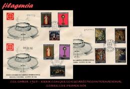 AMERICA. COLOMBIA SPD-FDC. 1968 XXXIX CONGRESO EUCARÍSTICO INTERNACIONAL. SEGUNDA SERIE - Colombie