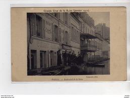 POISSY - Boulevard De La Seine - Grande Crue De La Seine - Janvier 1910 - état - Poissy