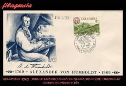 AMERICA. COLOMBIA SPD-FDC. 1969 BICENTENARIO DE ALEXANDER VON HUMBOLDT - Colombia