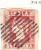 INDIA 1854 1A Deep Red Die II SG13 Used - Unclassified