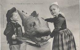 1er Avril En Bretagne - Un Repas Monstre (poisson) - Edition Villard, Carte N° 1388 - 1er Avril - Poisson D'avril