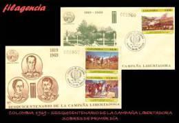AMERICA. COLOMBIA SPD-FDC. 1969 SESQUICENTENARIO DE LA CAMPAÑA LIBERTADORA - Colombie