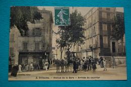 OLLIOULES. Avenue De La Gare.  Arrivée Du Courrier - Ollioules