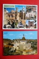 2 X Israel - Nazareth Galiläa Verkündigungsbasilika - Holy Land Jerusalem Bethlehem - Lieux Saints