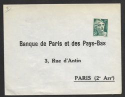 Enveloppe Avec Gandon Perforé BP-Ancoper BP 147 - Frankreich