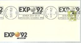 POSTMARKET  VALENCIA - 1992 – Sevilla (España)
