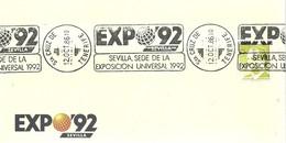POSTMARKET  STº CRUZ DE TENERIFE - 1992 – Sevilla (España)