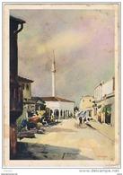 ALBANIA - VALONA:  MOSCHEA  E  MERCATO  -  ( ILLUSTRATORE  PIFFERO )  -  PER  L' ITALIA  -  FG - Islam