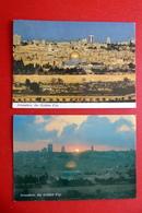 2 X Jerusalem - The Golden City - Blick Vom Ölberg - Mauer - Israel Palästina - Israel