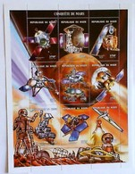 NIGER REPUBLIC Issued: July 24, 2001.Space History, Mars Conquest. - Space
