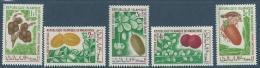 """Mauritanie YT 241 à 245 """" Fruits """" 1967 Neuf** - Mauritanie (1960-...)"""