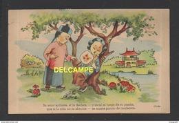 DF/ ILLUSTRATEUR CELMA  / ESPAGNE / SERIE LA CHINE MYSTERIEUSE / LE COUP DE CHAUD / CIRCULÉE EN 1950 - Illustrateurs & Photographes