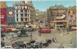 London: MORRIS COMMERCIAL LC3, AUSTIN FX TAXI'S, DOUBLE DECK BUSES - Piccadilly Circus - Toerisme