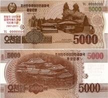 NORTH KOREA     5000 Won      Comm.       P-CS20       J. 102 / 2013 (2017)        UNC - Korea, North