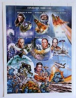 NIGER REPUBLIC Issued: July 24, 2001  Space History, Conquest Of The Moon - Space