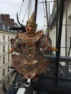 (Cambodge) Marionnette à Fils. Hauteur = 38 Cm. - Art Asiatique