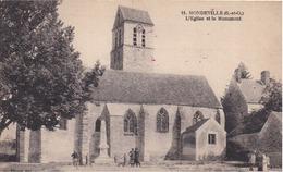 91 MONDEVILLE - L'Église Et Le Monument - Animée - France