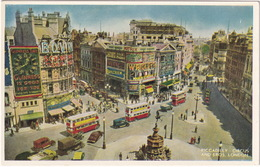 London: JAGUAR MKV, OLDTIMER VAN, LORRY, TRUCK, CARS, DOUBLE DECK BUSES - Piccadilly Circus - Toerisme
