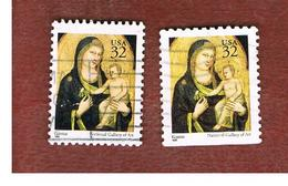 STATI UNITI (U.S.A.) - SG 3153 - 1995  CHRISTMAS: GIOTTO (2 DIFFERENT PERFORATIONS)   - USED - Used Stamps