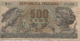 Bancanota L 500 D. Mura - [ 2] 1946-… : Républic