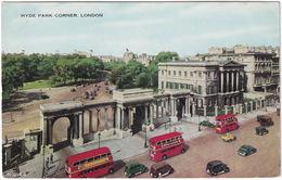 London: JAGUAR MKV, OLDTIMER CARS, TAXI, LORRY, DOUBLE DECK BUSES - Hyde Park Corner - Toerisme