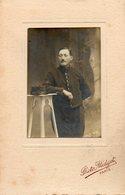Photo Militaire. Photo Encollée Sur Carton; Photo Midget, Paris. Soldat A. Labbé. 1914.1915.1916. Scan Du Verso. - Guerre, Militaire