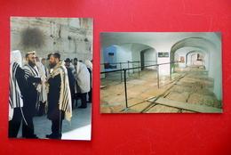 2 X Jerusalem - Klagemauer - Juden Mit Gebetsschal - Israel Palästina - Holy Land - Judaisme