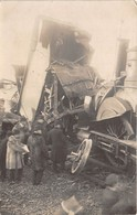 14-GERMAIN-DE-TALLEVENDE-CARTE-PHOTO- DERAILLEMENT D'UN TRAIN 1911 - France