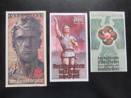 3x Vignet Propaganda III. Reich WHW Winterhilfswerke - 2. Wahl - Erh. II-III - Deutschland