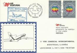 CANADA, SOBRE PRIMER VUELO MONTREAL/LISBOA - 1952-.... Règne D'Elizabeth II