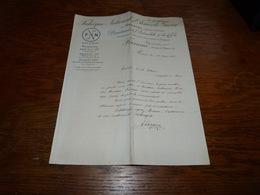 Document  Commercial Facture FN Herstal Département De L'automobile Et Du Cycle 1901 Franeau Mons Moto - Belgio